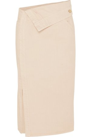 Jacquemus | Folded denim midi skirt | NET-A-PORTER.COM