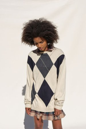 Urban Renewal Vintage Oversized Argyle Sweater | Urban Outfitters
