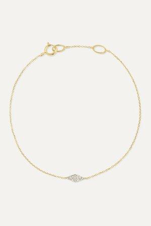 STONE AND STRAND | 14-karat gold diamond bracelet | NET-A-PORTER.COM
