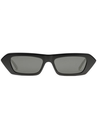 Shop black Gucci Eyewear crystal embellished rectangular sunglasses with Express Delivery - Farfetch