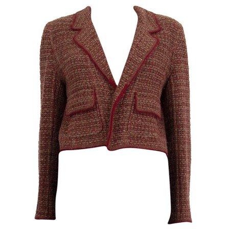 Chanel Paris Dallas Tweed Blazer Jacket For Sale at 1stDibs