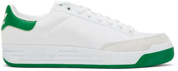 White and Green Rod Laver Sneakers