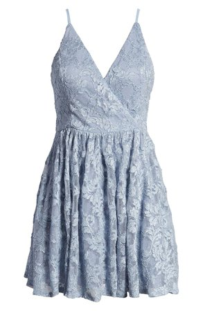 Speechless Glitter Lace Fit & Flare Minidress