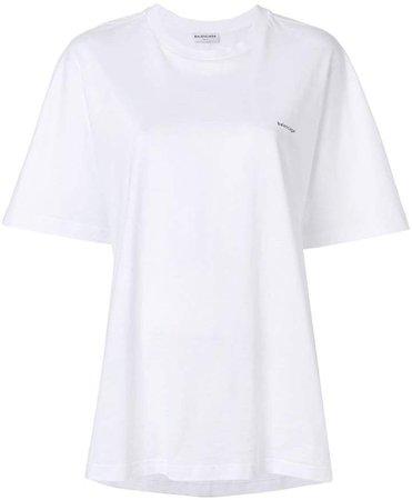 logo printed cocoon T-shirt