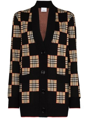 Burberry Paislee Checked Cardigan - Farfetch