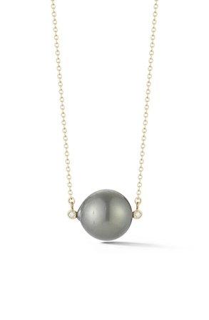 Mizuki Tahitian Pearl & Diamond Collar Necklace | Nordstrom