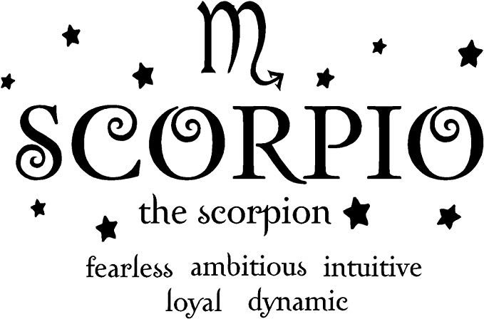 Amazon.com: Sticker Perfect Scorpio The Scorpion Horoscope Zodiac Vinyl Wall Art Decal Home Decor Sayings: Home & Kitchen