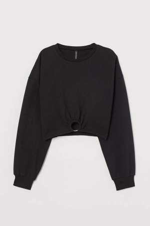 Short Sweatshirt - Black