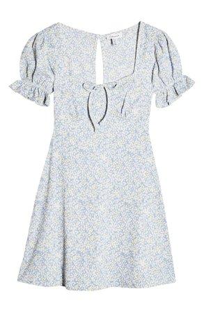 Topshop Cutout Back Flippy Minidress (Petite) | Nordstrom