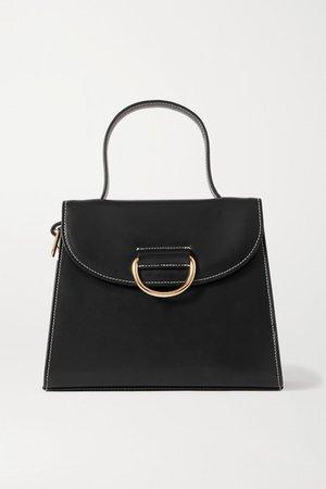 Lady Medium Embellished Leather Tote - Black