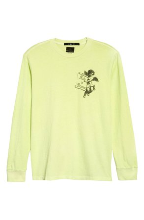 Ksubi Heaven Long Sleeve Graphic Tee yellow