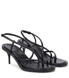 Alexander McQueen - Leather sandals | Mytheresa
