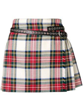 Miu Miu contrasting pleated mini skirt