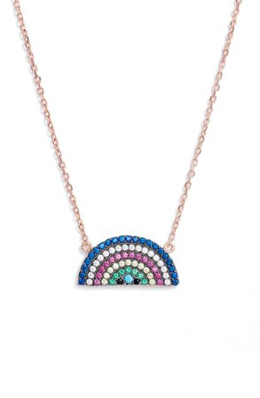 Knotty Rainbow Charm Pendant Necklace | Nordstrom