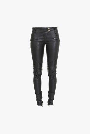   Leather Pants  for Women - Balmain.com