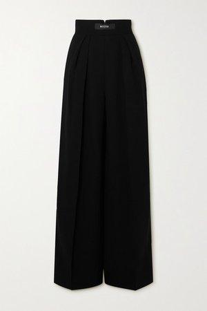 Reason Crepe Wide-leg Pants - Black