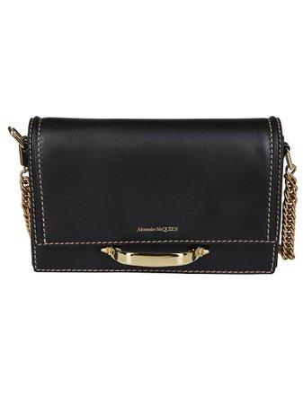 Black Leather The Story Shoulder Bag