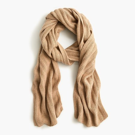 J.Crew: Ribbed Scarf In Everyday Cashmere