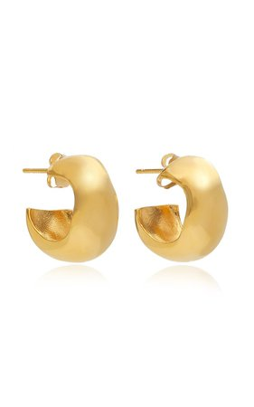 Celia Small Gold Vermeil Hoop Earrings by AGMES | Moda Operandi