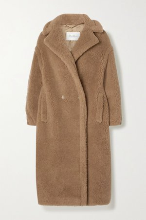 Sand Teddy Bear Icon camel hair and silk-blend coat | Max Mara | NET-A-PORTER