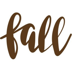 Silhouette Design Store - View Design #274919: fall word