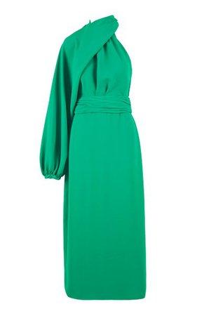 Susurros Ancestrales Removable Sleeve Crepe Dress By Johanna Ortiz   Moda Operandi