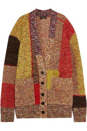Burberry | Patchwork wool-blend cardigan | NET-A-PORTER.COM