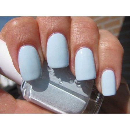 Essie Nail Polish (E746-Borrowed & Blue) BABY BLUE COLOR NEW | Nail Decor | Pinterest | Light blue nail polish, Blue nails and Lights