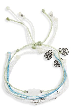 Pura Vida Mental Health Awareness 3-Pack String Bracelets | Nordstrom