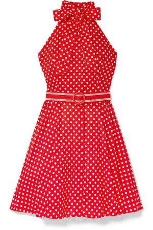 Zimmermann | Zinnia halterneck polka-dot linen and cotton-blend voile mini dress | NET-A-PORTER.COM