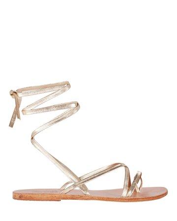 Ancient Greek Sandals Morfi Metallic Sandals   INTERMIX®