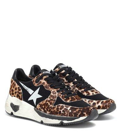 Running calf hair sneakers
