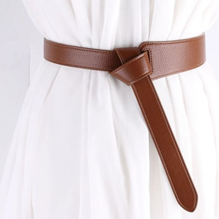 New Women Wide Corset Leather Belt Female Tie Obi Waistband Thin Black Brown Bow Leisure Belts Ladies Wedding Dress Waistbands|Women's Belts| - AliExpress