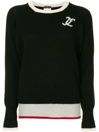 Chanel l cashmere long sleeve top - Black