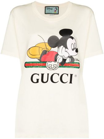 Gucci Футболка Mickey Mouse с Логотипом - Farfetch