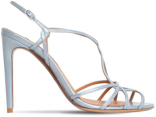 100mm Metallic Leather Sandals