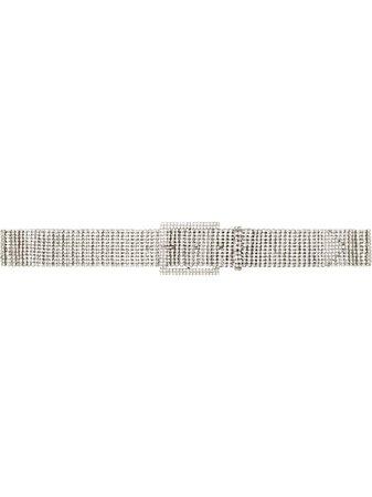 Black & Brown KATIE Crystal-Embellished Buckle Belt Ss20 | Farfetch.com