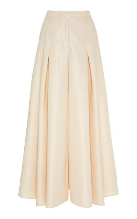Cotton-Blend Wide-Leg Pants by Carolina Herrera | Moda Operandi