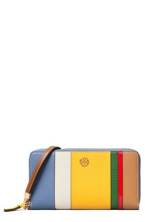 Tory Burch Robinson Zip Leather Continental Wallet | Nordstrom