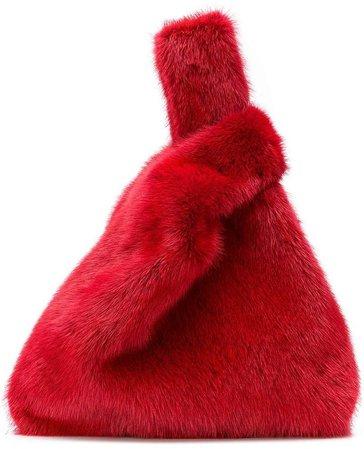 mini fur tote bag