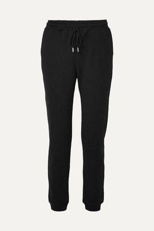Black Organic cotton-jersey track pants | Ninety Percent | NET-A-PORTER