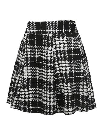 50s Plaid Print Skirt | SHEIN
