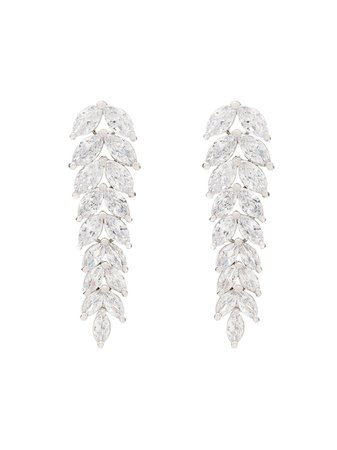 Apples & Figs silver-plated Crystal Drop Earrings - Farfetch
