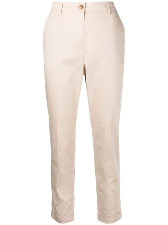 TWINSET high-waisted stretch-cotton Trousers - Farfetch