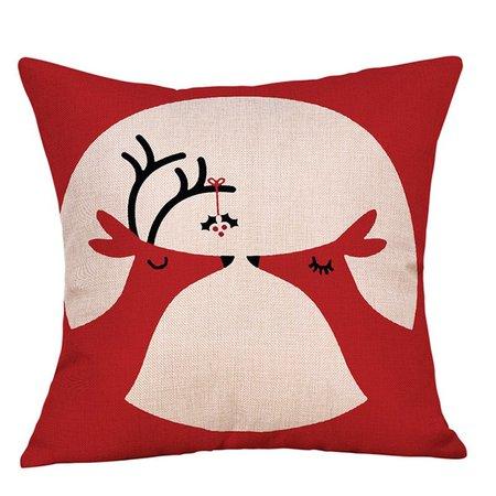 DressLily.com: Photo Gallery - Christmas Deers Print Linen Pillowcase