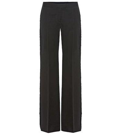 Tuxedo fringed wool trousers