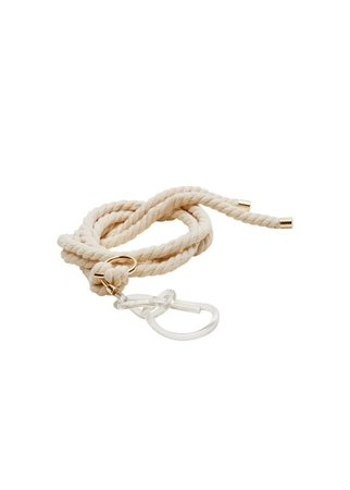 MANGO Transparent buckle rope belt