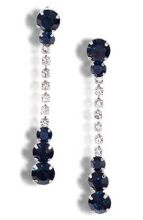 CRISTABELLE Mixed Crystal Linear Drop Earrings   Nordstrom