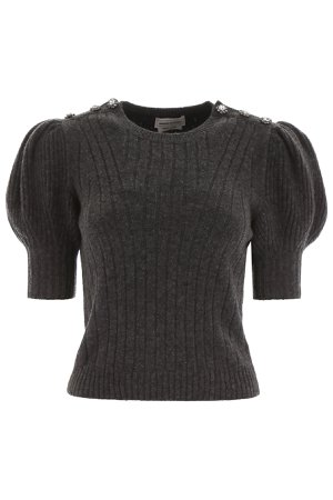 Alexander McQueen Short-sleeved Knit With Decorative Buttons