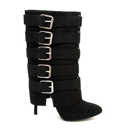 Labellov Giuseppe Zanotti For Balmain Black Suede Buckle Boots - size 41 ● Buy and Sell Authentic Luxury